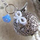 Vintage Silver Bird Locket Necklace
