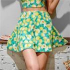 Print A-line Skirt