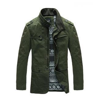 Stand-collar Zip Jacket