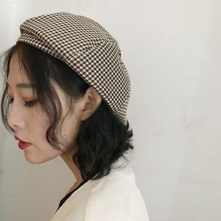 Houndstooth Beret Hat