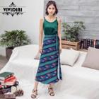 Midi Patterned Wrap Skirt