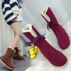 Fleece Mid Calf Boots