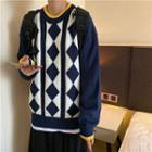 Long-sleeve Pattern Embroidered Sweater