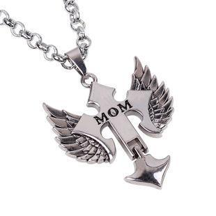 Mom Winged Cross Necklace