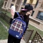 Canvas Plaid Backpack