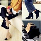 Color-block Ankle Boots