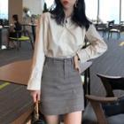 Plain Shirt/ Mini A-line Skirt