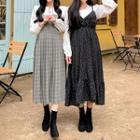 Long Rosette Pinafore Dress