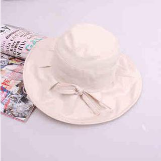 Bow-accent Bucket Hat