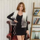 Two-tone Faux-fur Vest