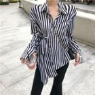 Wrapped Striped Shirt