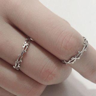 Branches Open Ring Silver - One Size