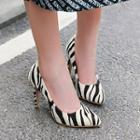 Patterned Stiletto Heel Pumps