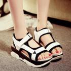 Two Tone Platform Sandals