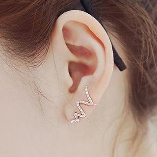 925 Sterling Silver Curve Earrings