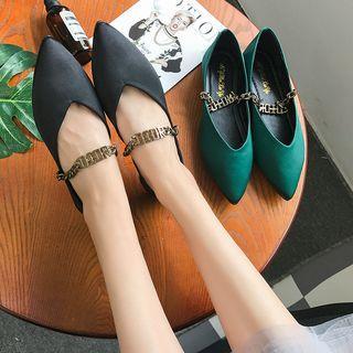 Pointy-toe Chain Flats