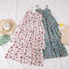 Layered Sleeveless Floral Dress
