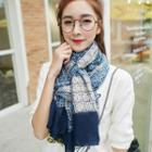 Plaid Cotton Scarf