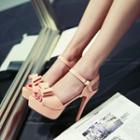 Platform High Heel Bow Sandals