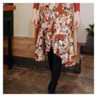 Floral Print Dip-back Skirt