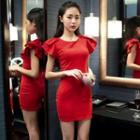 Short-sleeve Party Dress
