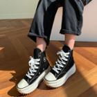 High-top Platform Canvas Sneakers