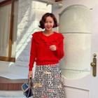 Ruffled Capelet Sweater