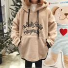 Long-sleeve Hooded Fleece Top