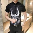 Skull Printed Short-sleeve Shirt