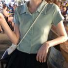 Shirt-sleeve Plain Shirt