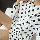 Set: Polka Dot Top + Band-waist Shorts