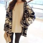 Pattern Loose-fit Cardigan