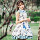 Patterned Sleeveless A-line Lolita Dress