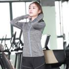 Hooded Zip Sport Jacket