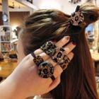 Rhinestone Leopard Print Hair Tie