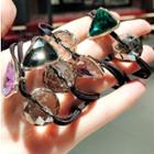 Acrylic Triangle Glass Ball Hair Tie