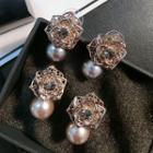 Flower Faux Pearl Earrings