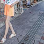 Elastic-waist Colored Shorts