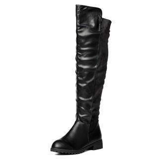 Hidden Wedge Over-the-knee Boots