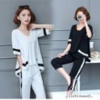 Set: A-line Top + Tapered Pants