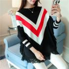 Chevron Long-sleeve Knit Sweater