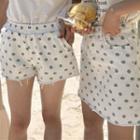 Dotted Denim Shorts / Denim Skirt