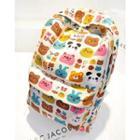 Animal Print Canvas Backpack