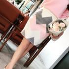 Woolen Fitted Skirt