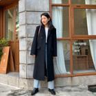 Woolen Chesterfield Coat Black - One Size