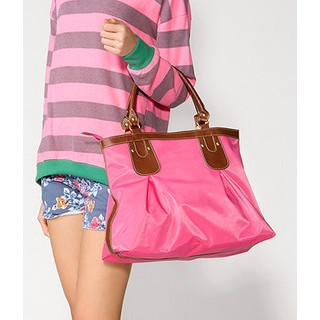 Contrast Trim Tote Pink - One Size