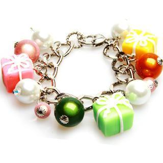 Neon Present Pearl Crystal Bracelet
