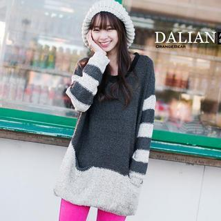 Contrast-color Sweater