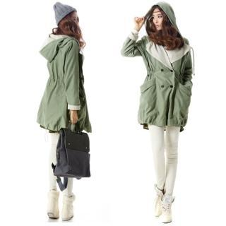 Hooded Drawstring-waist Jacket