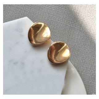 Irregular Alloy Disc Earring 1 Pair - As Shown In Figure - One Size